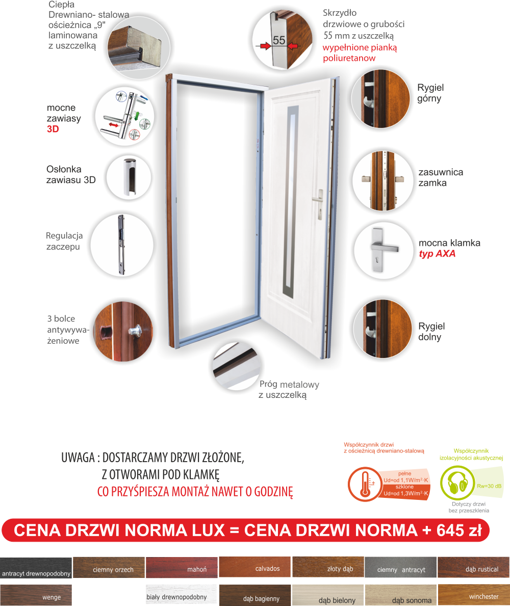 drzwi norma 55 lux
